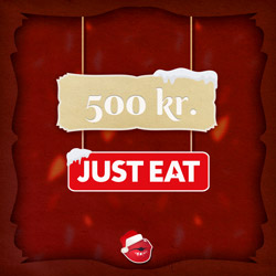 2x 500kr til Just-Eat
